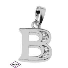 Przywieszka rodowana - litera B - PRZ287