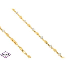 Bransoletka pozłacana - 19cm - BP973
