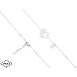 Bransoletka rodowana - celebrytka - 21cm - BP1054