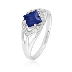 Pierścionek z niebieskim kryształem- Xuping PP1870