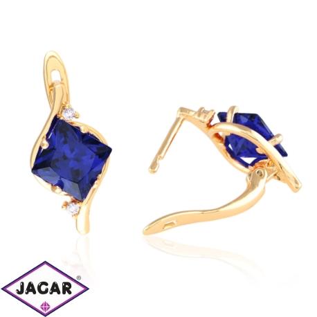 Kolczyki - blue crystal - Xuping - EAP9344
