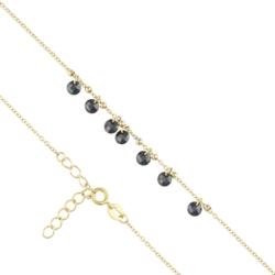 Bransoletka z czarnymi kryształkami Xuping BP4168