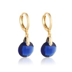 Kolczyki z granatowymi kryształami- Xuping EAP9844