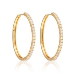 Kolczyki - koła z kryształkami - Xuping EAP9846