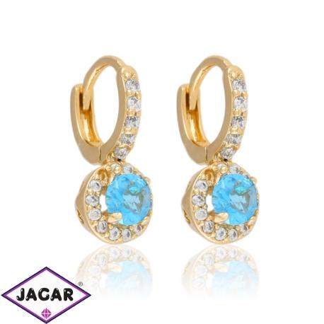 Kolczyki z niebieskim kryształem - Xuping EAP9889