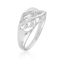 Pierścionek z kryształkami - liść - Xuping -PP1975