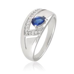 Pierścionek z niebieskim kryształem Xuping PP1993