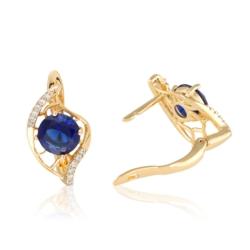 Kolczyki z niebieskim kryształem - EAP10087