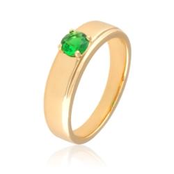 Pierścionek - green crystal - Xuping - PP2020