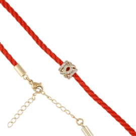 Bransoletka - czerwony sznurek - Xuping BP4379