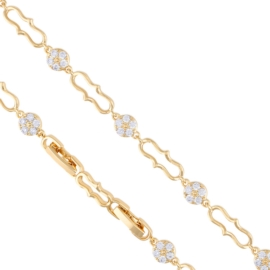 Bransoletka z kryształkami - Xuping - BP4419