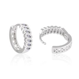 Kolczyki kółeczka z kryształkami - Xuping EAP10608