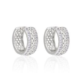 Kolczyki ażurowe z kryształkami - Xuping EAP10614