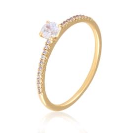 Pierścionek z kryształkami - Xuping PP2042