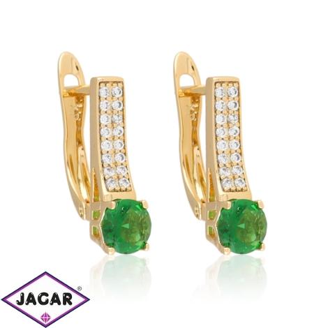 Kolczyki - zielony kamień - Xuping - EAP10724