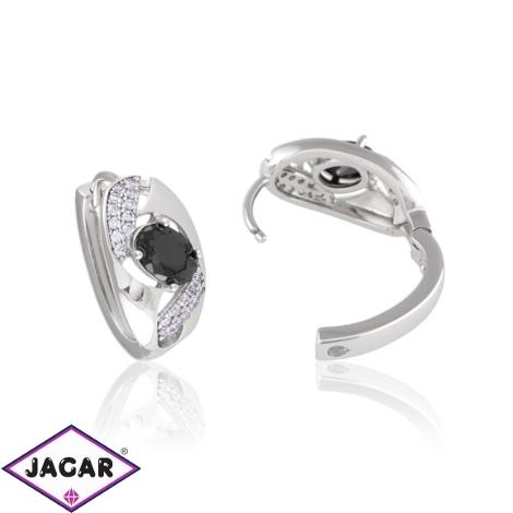 Kolczyki czarny kryształek - Xuping - EAP10850