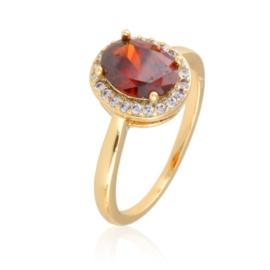 Pierścionek z czerwonym oczkiem - Xuping - PP2089