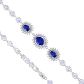 Bransoletka niebieskie kryształki Xuping BP4705