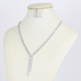 Komplet biżuterii z kryształkami - Xuping - SKO69