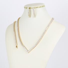 Komplet biżuterii z kryształkami - Xuping - SKO71