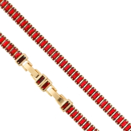 Bransoletka - czerwone kryształki Xuping - BP4825