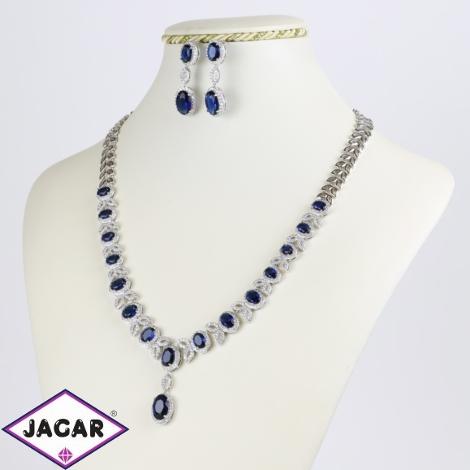 Komplet biżuterii niebieski kryształ Xuping SKO73