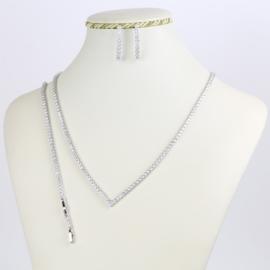 Komplet biżuterii - kryształki - Xuping - SKO76