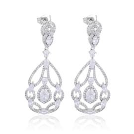 Kolczyki ślubne - kryształy - EAP11466