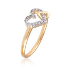 Pierścionek - crystal heart - Xuping PP2318