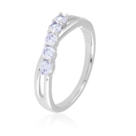 Pierścionek - pięć kryształków - Xuping - PP2347