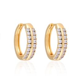 Kolczyki koła z kryształkami - Xuping EAP11514