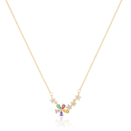 Celebrytka multicolor flowers - Xuping CP2591