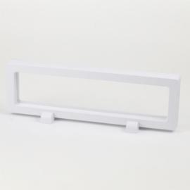 Ekspozytor - biała ramka 3D - 23x7cm EKS104
