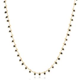 Łańcuszek z czarnymi koralikami - Xuping CP2680