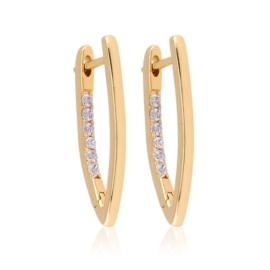 Kolczyki kły z kryształkami - Xuping EAP11975