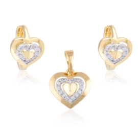 Komplet biżuterii - serduszka - Xuping PK504