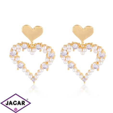 Kolczyki - perłowe serce - Xuping - EAP12430