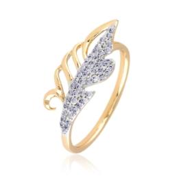 Pierścionek liść z kryształkami - Xuping PP2499