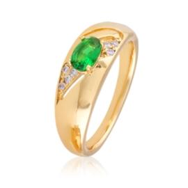 Pierścionek - zielone oczko - Xuping PP2380