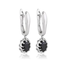 Kolczyki - czarny kamień - Xuping EAP12599