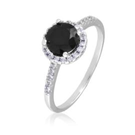 Pierścionek - czarny kamień - Xuping PP2502