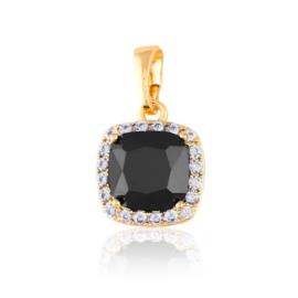 Przywieszka - czarny kryształ - Xuping - PRZ2331