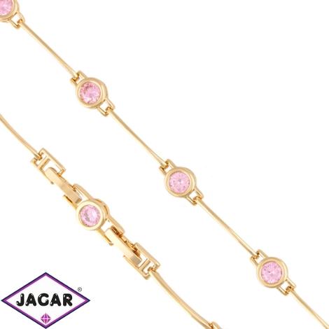 Bransoletka różowe kryształki - Xuping BP5586