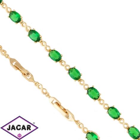 Bransoletka zielone kamienie - Xuping BP5588