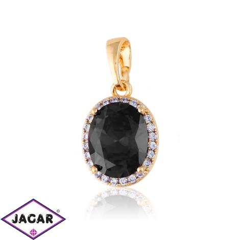 Przywieszka - czarny kamień - Xuping PRZ2378
