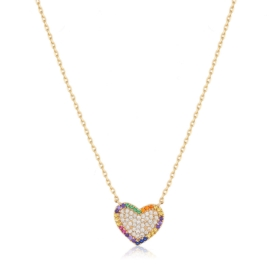 Celebrytka - kolorowe serce - Xuping - CP2961