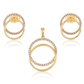 Komplet biżuterii - kółeczka Xuping PK515
