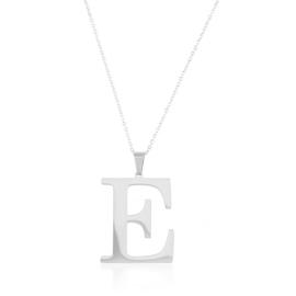 Celebrytka stal - literka E silver Xuping - CP3689