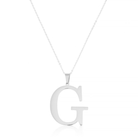 Celebrytka stal - literka G silver Xuping - CP3691