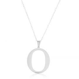 Celebrytka stal - literka O silver Xuping - CP3708